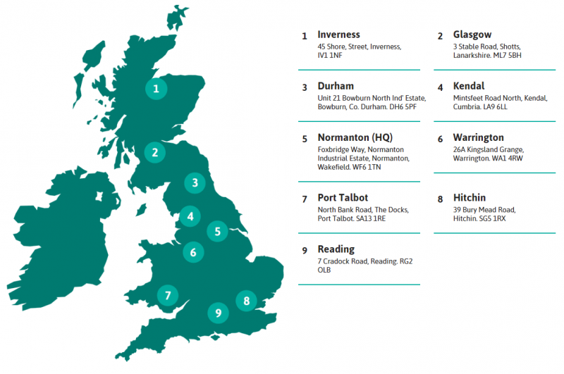 Depot Locations Across the UK | Generator Power