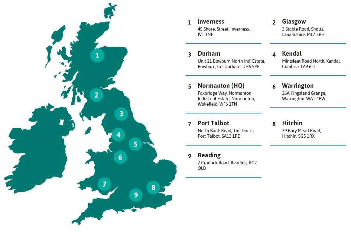 Depot Locations Across the UK | Generator Power